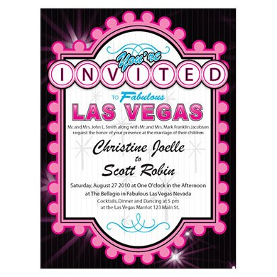 Las Vegas Invitations and Wedding Accessories